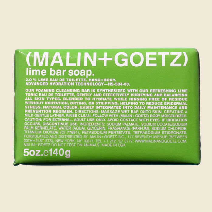 Malin + Goetz Bar Soap - Lime