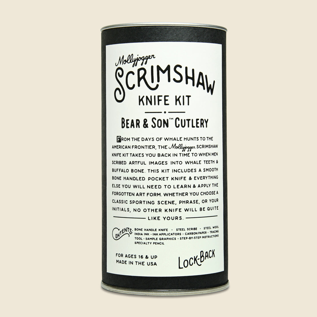Bear & Son Knife + Scrimshaw Kit