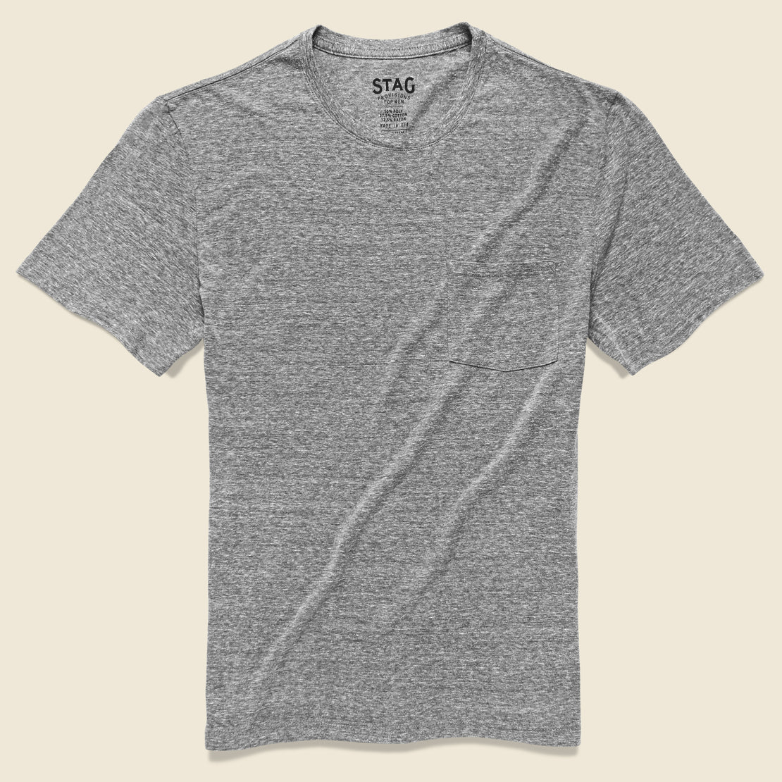 STAG Pocket Tee - Grey