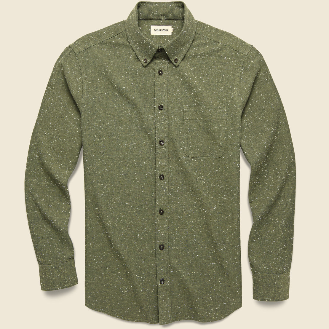 Taylor Stitch Jack Shirt - Olive Donegal