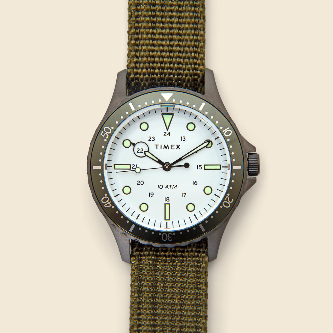 Timex Navi XL Watch 41mm - White/Green