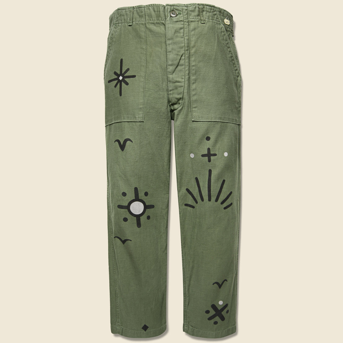 Tom Jean Webb Vintage Military-Issued Sateen Fatigues - Birds