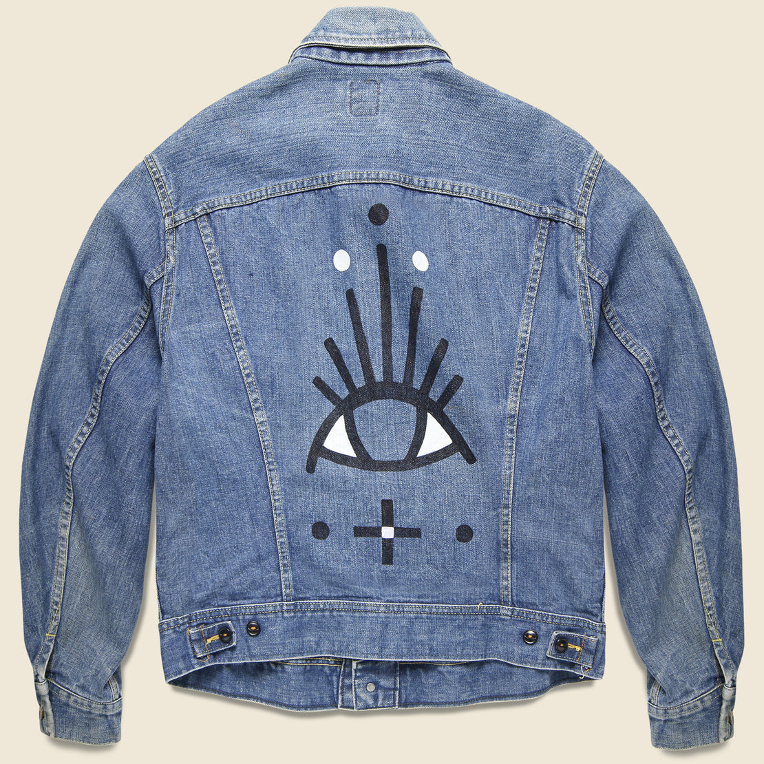 Tom Jean Webb Vintage Lee Rider Jacket - All Seeing Eye