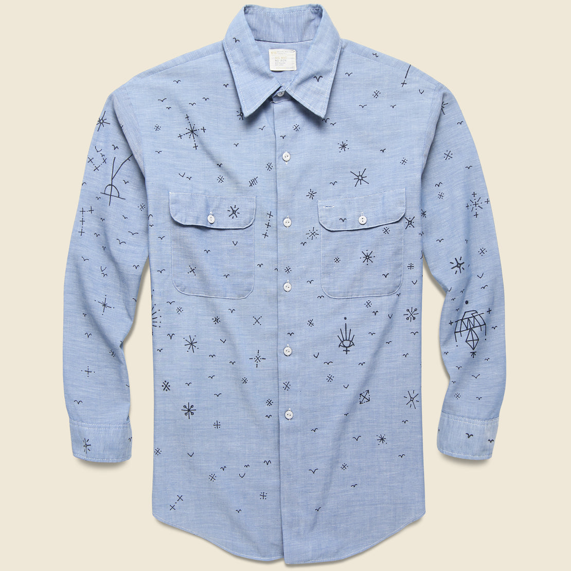 Tom Jean Webb Vintage Chambray Selvedge Shirt - Icons