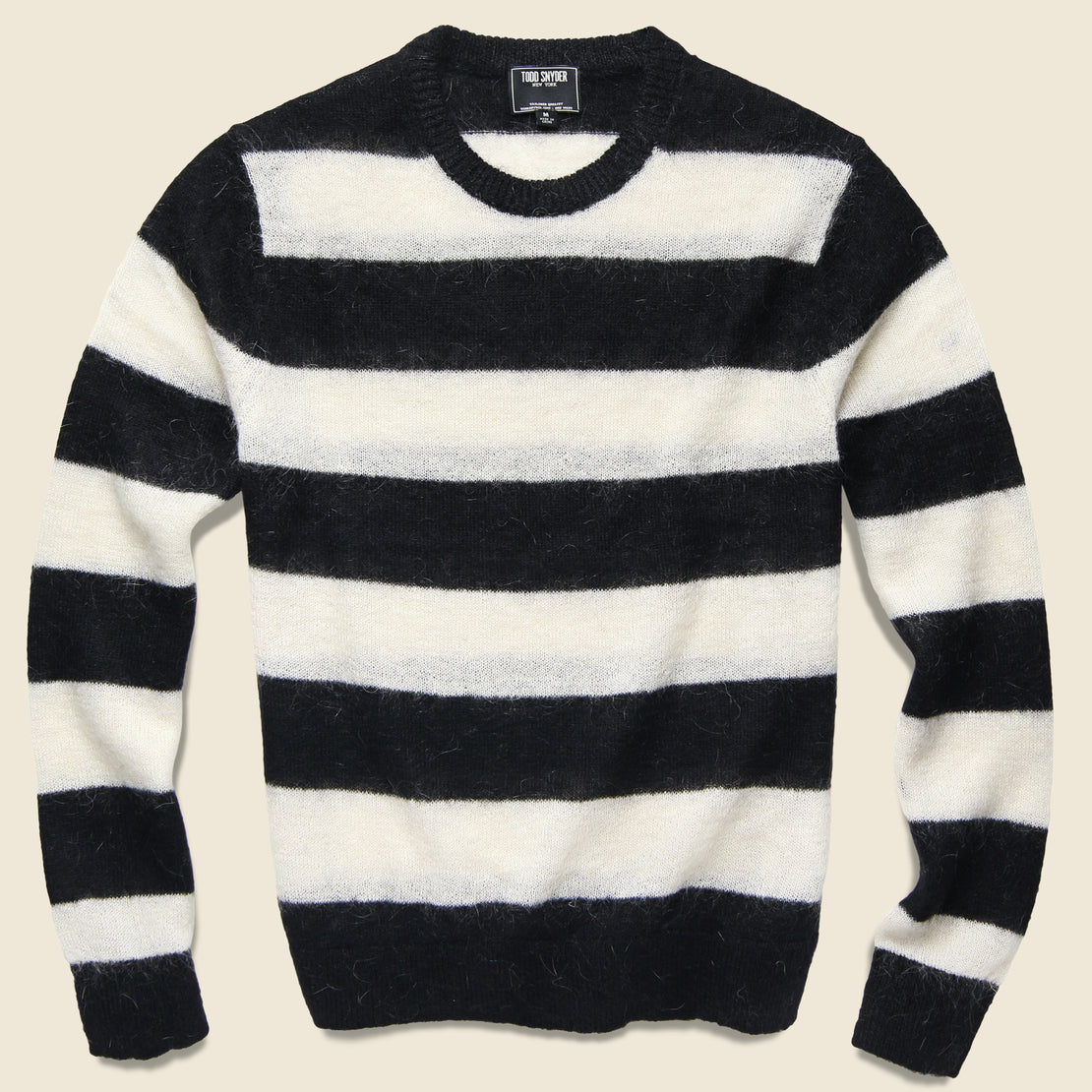 Todd Snyder Mohair Rugby Sweater - Black/White