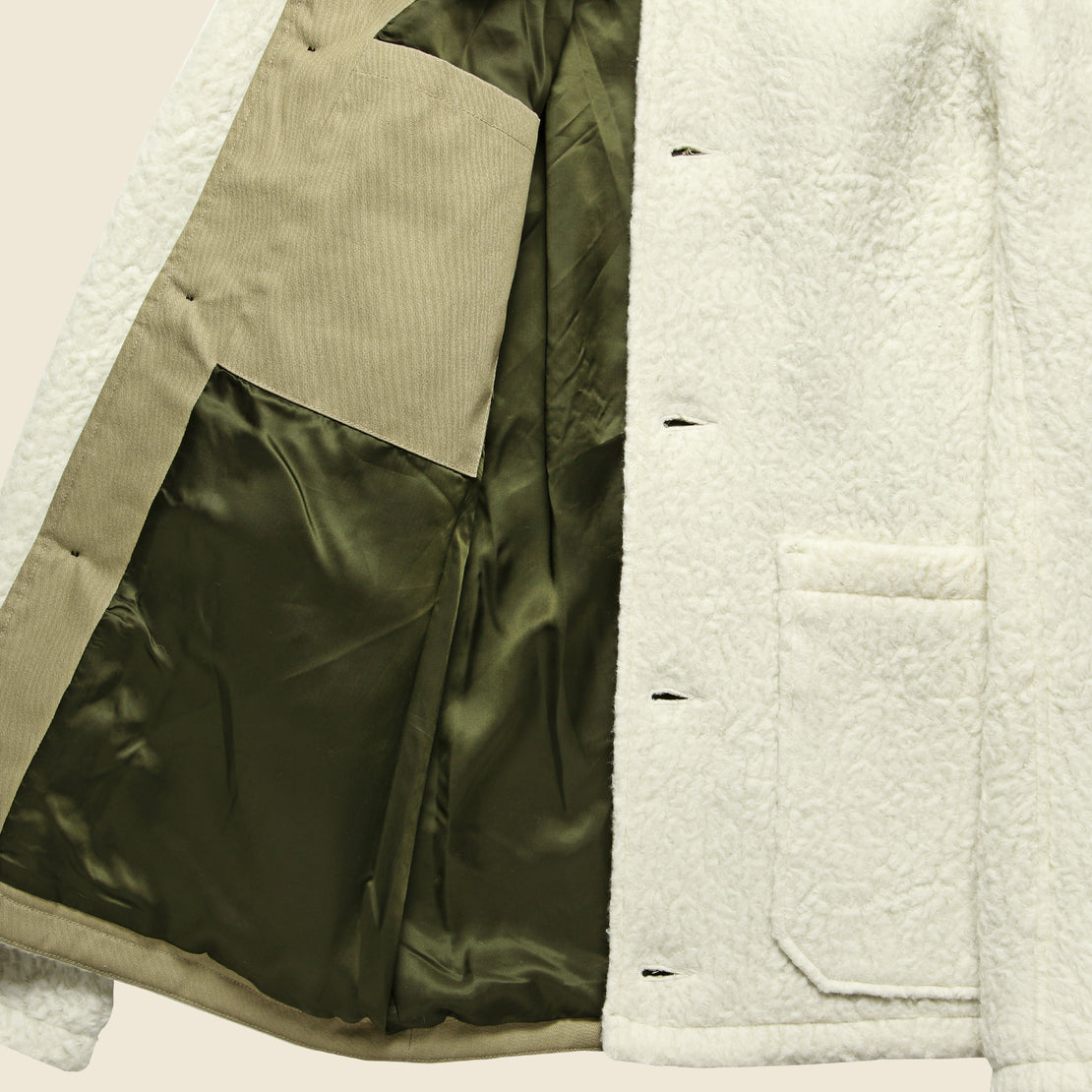 Sherpa Chore Jacket - White
