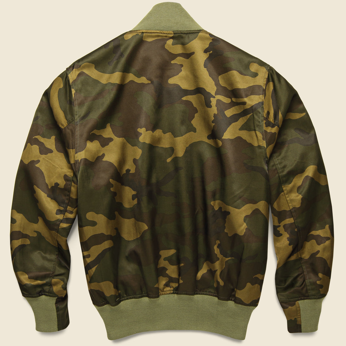 Todd Snyder + Champion - Satin Camo Bomber - Green