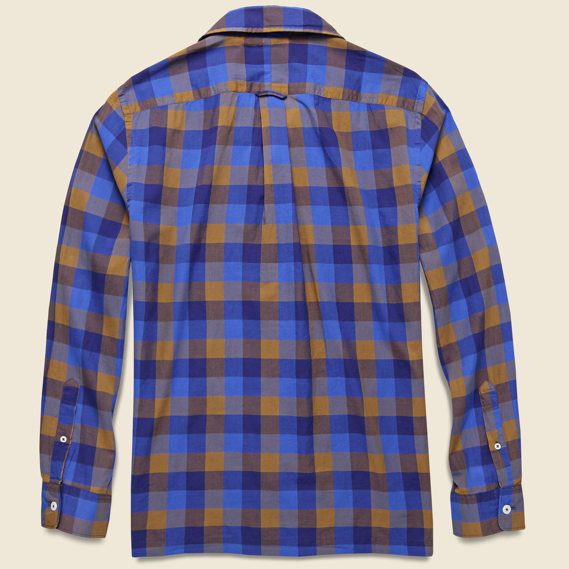 Chestnut Plaid Camp Shirt - Blue