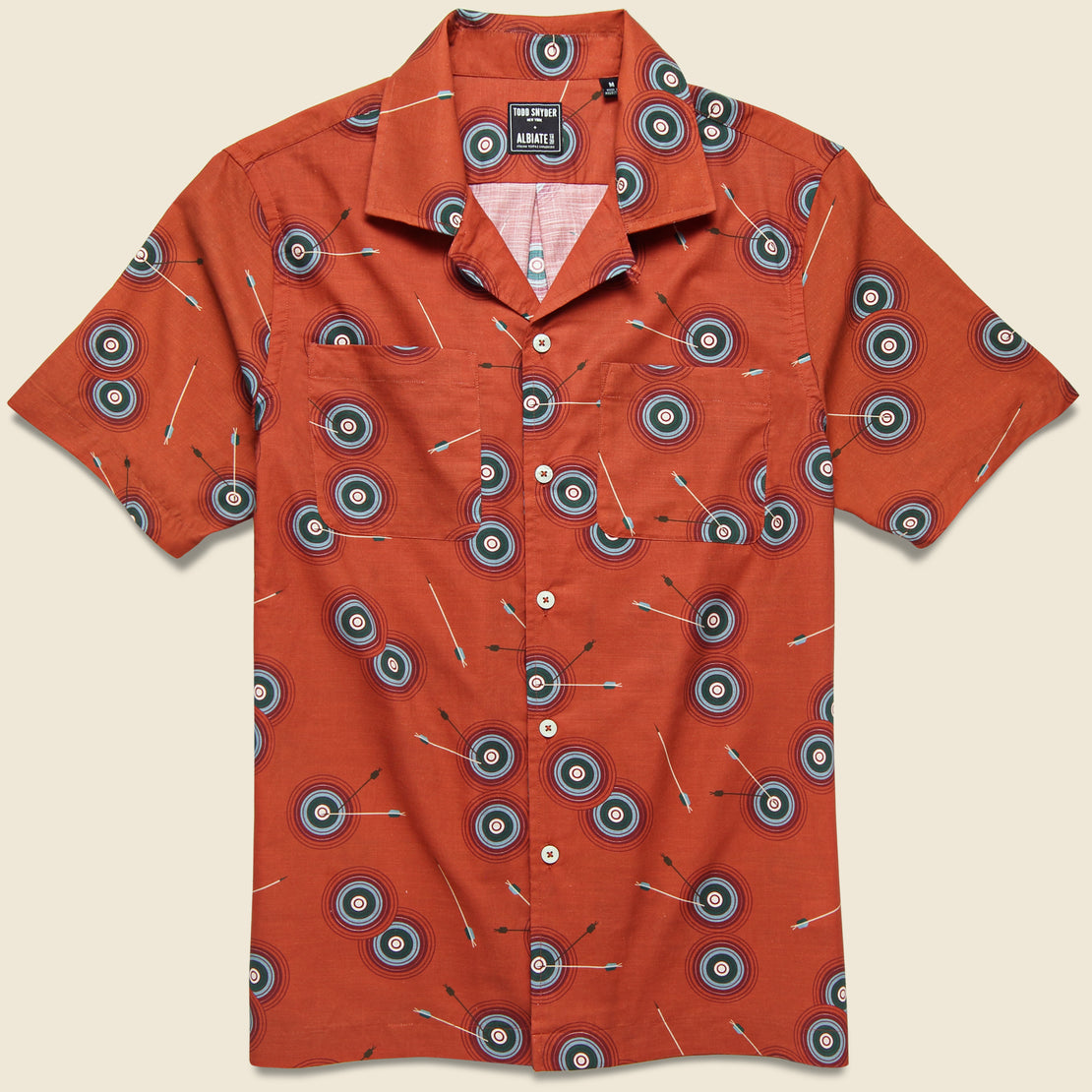 Todd Snyder Bullseye Camp Shirt - Clay