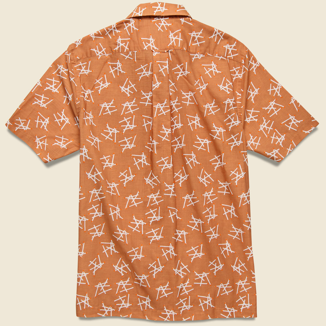 Matchstick Camp Shirt - Peach