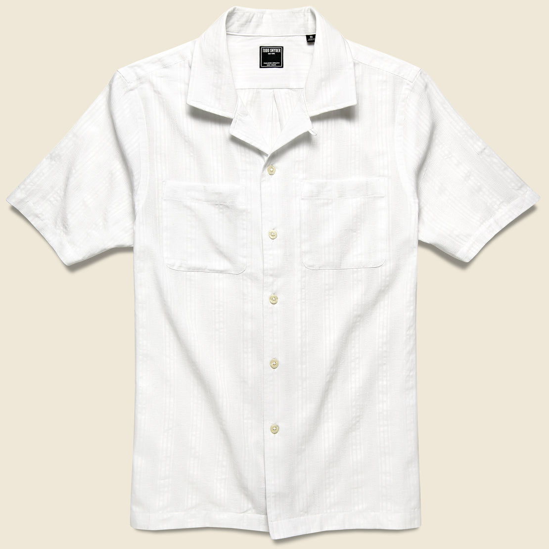 Todd Snyder Two-Pocket Maui Camp Shirt - White