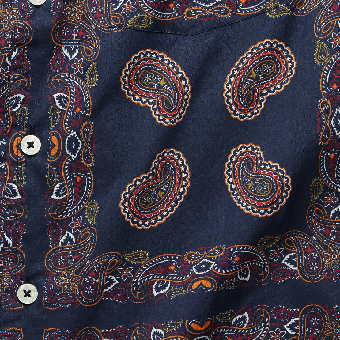 Bandana Camp Shirt - Navy