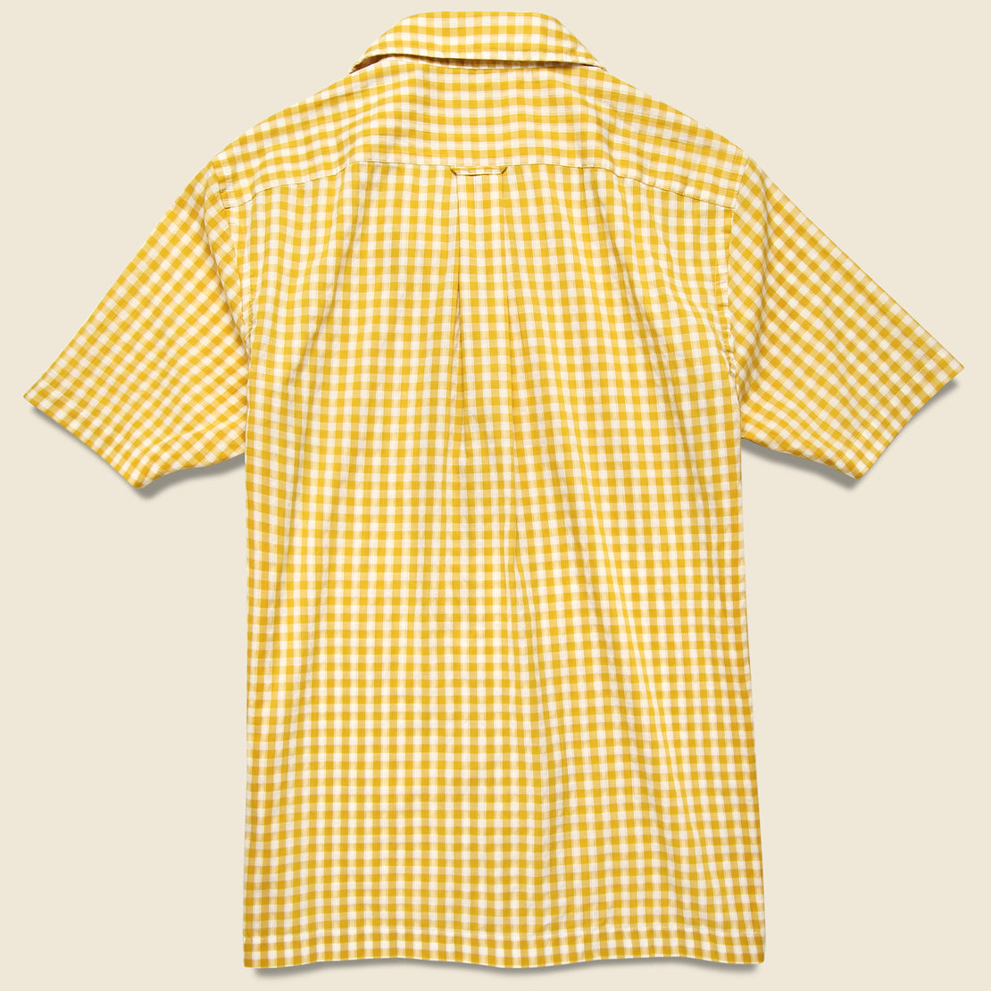 Micro Gingham Camp Shirt - Yellow