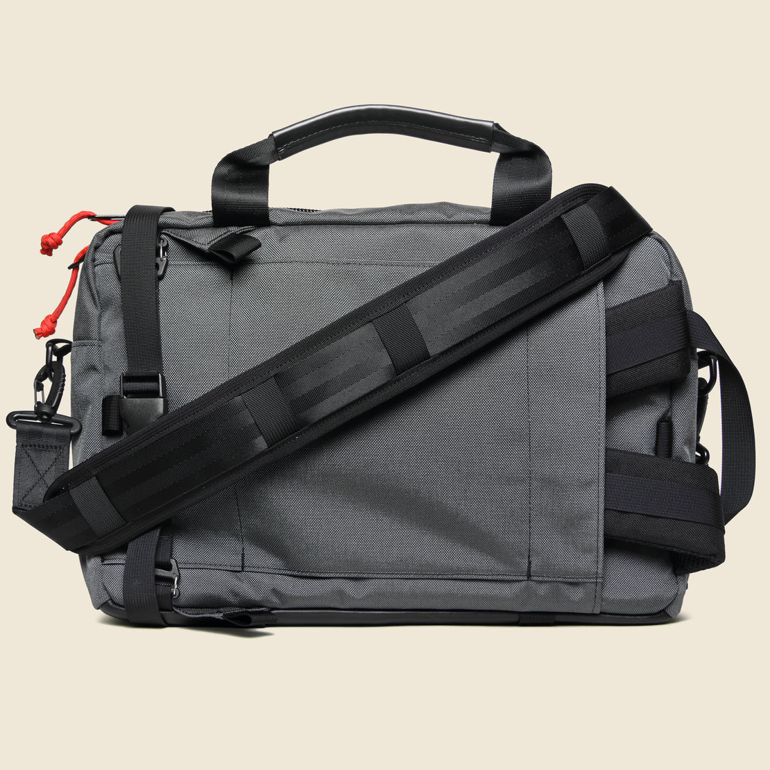 Commuter Briefcase - Charcoal/Black Leather