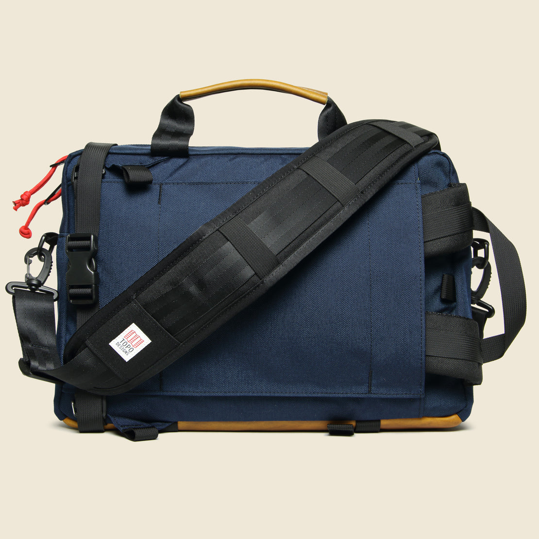 Commuter Briefcase - Navy/Brown Leather