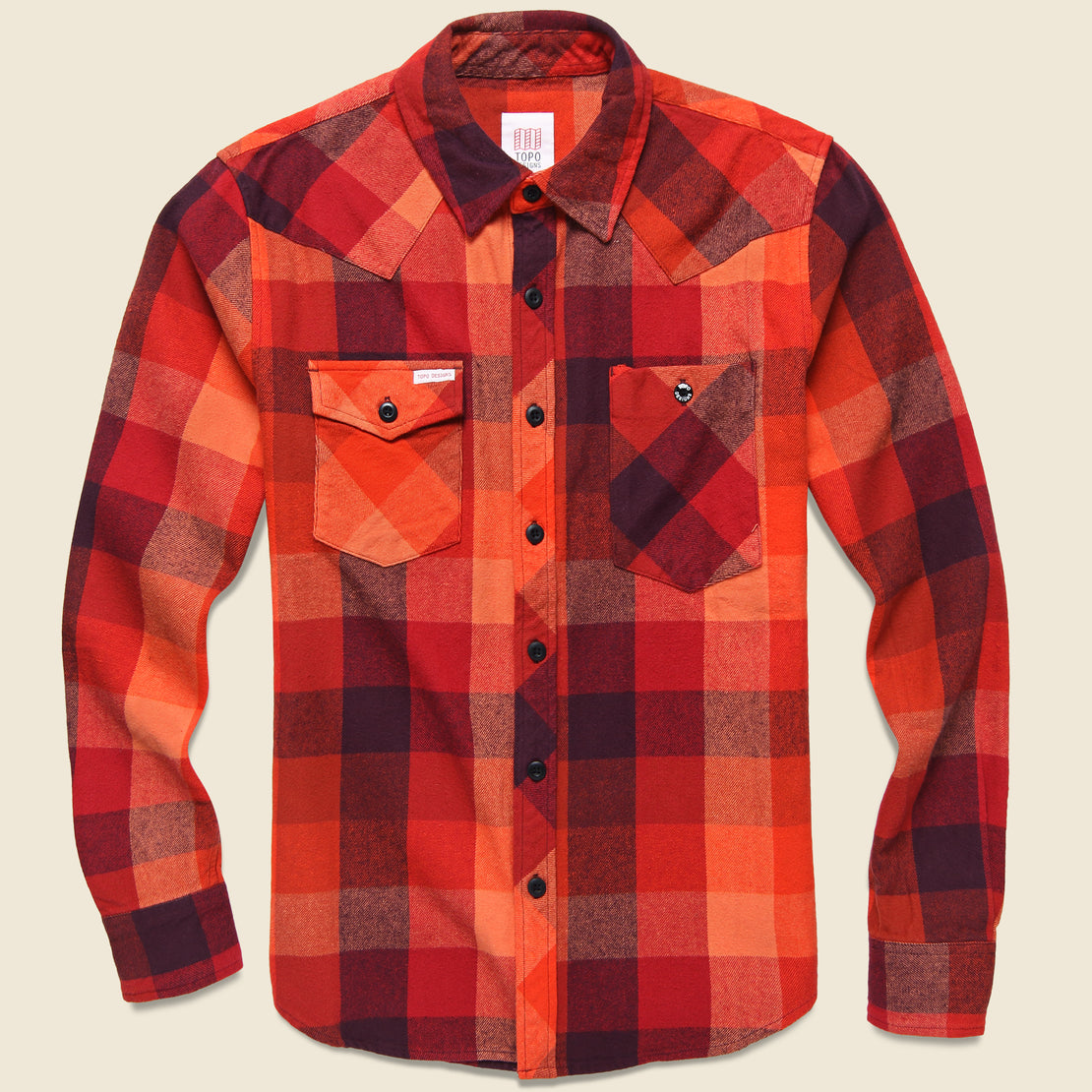 Topo Designs Plaid Workshirt - Red/Maroon