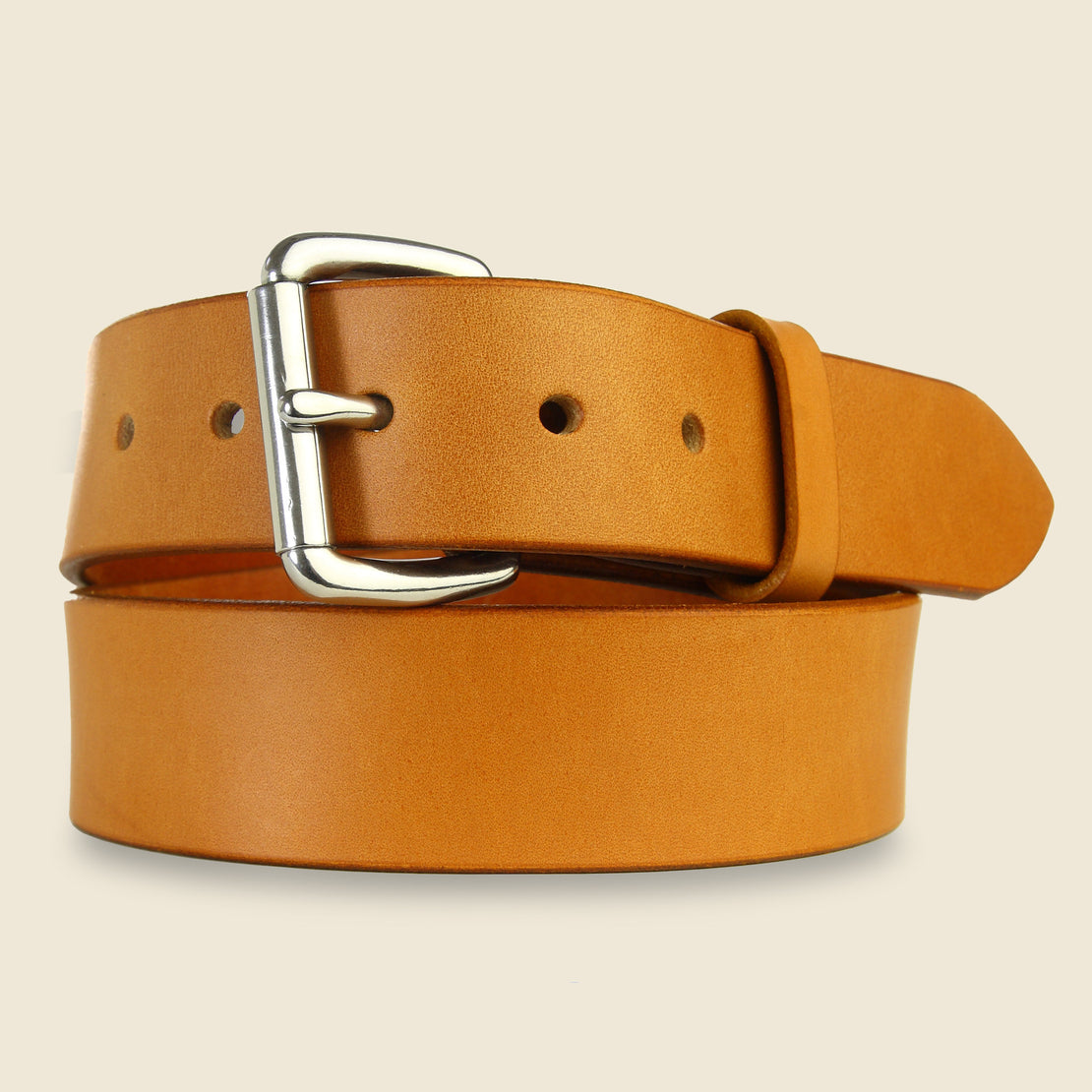 Tanner Tanner - Standard Belt - Tan / Stainless Steel