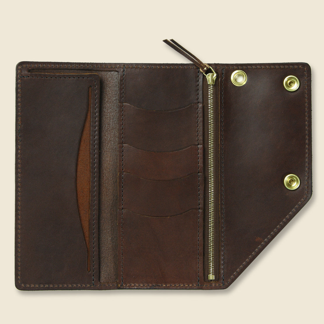 Workman Wallet - Dark Oak - Tanner - STAG Provisions - Accessories - Wallets
