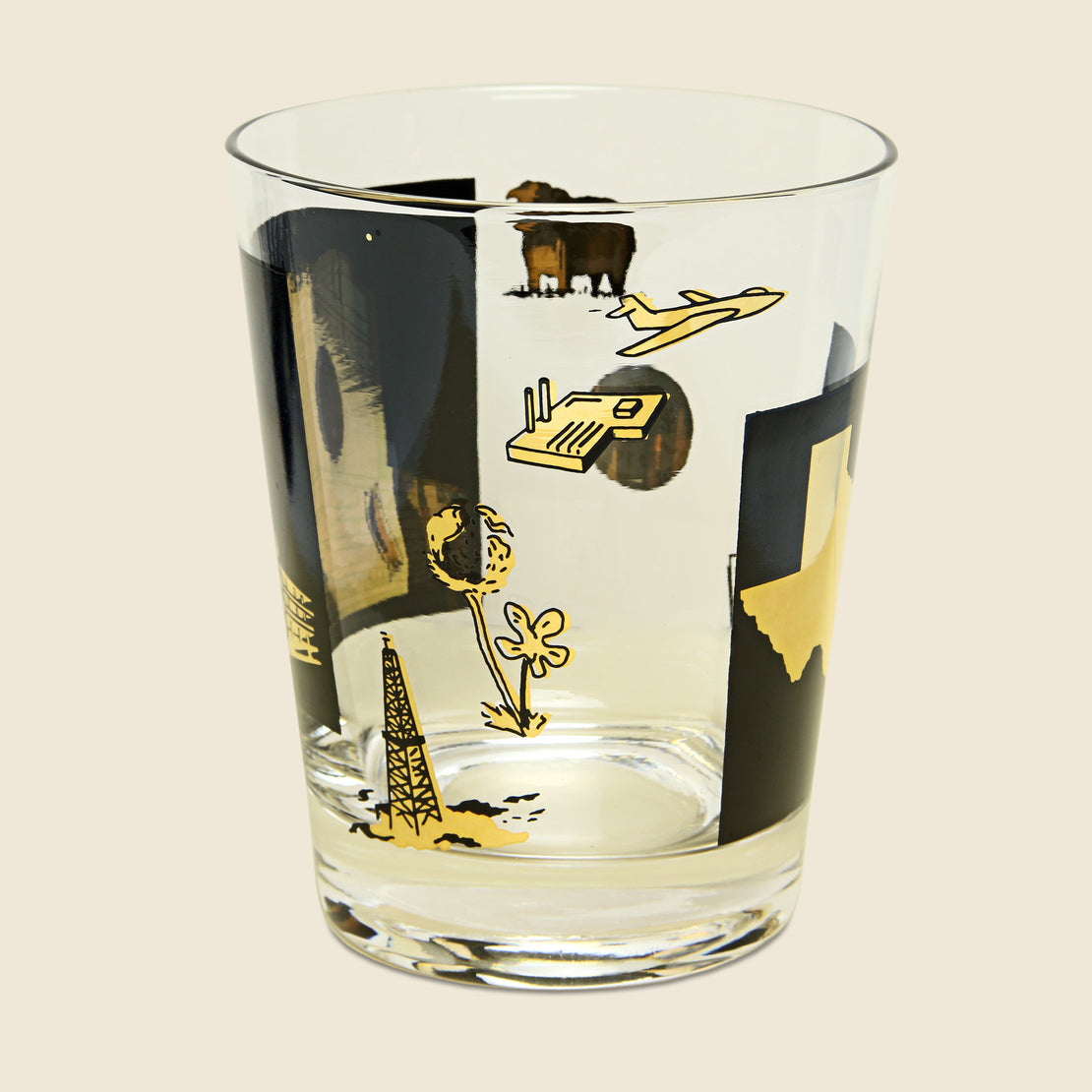 1970s Dallas Double Old Fashioned Glasses, Set of 6 - Vintage - STAG Provisions - Gift - Glassware / Barware