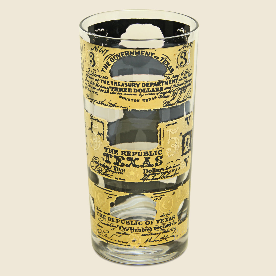 1960s Texas Currency Glass Set