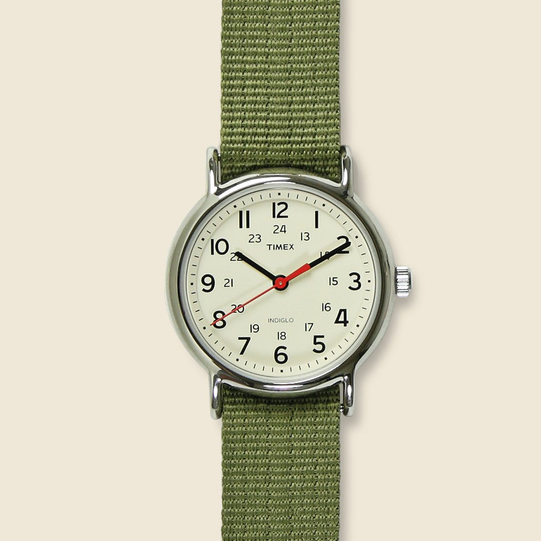 Timex Weekender Watch 38mm - Cream/Olive