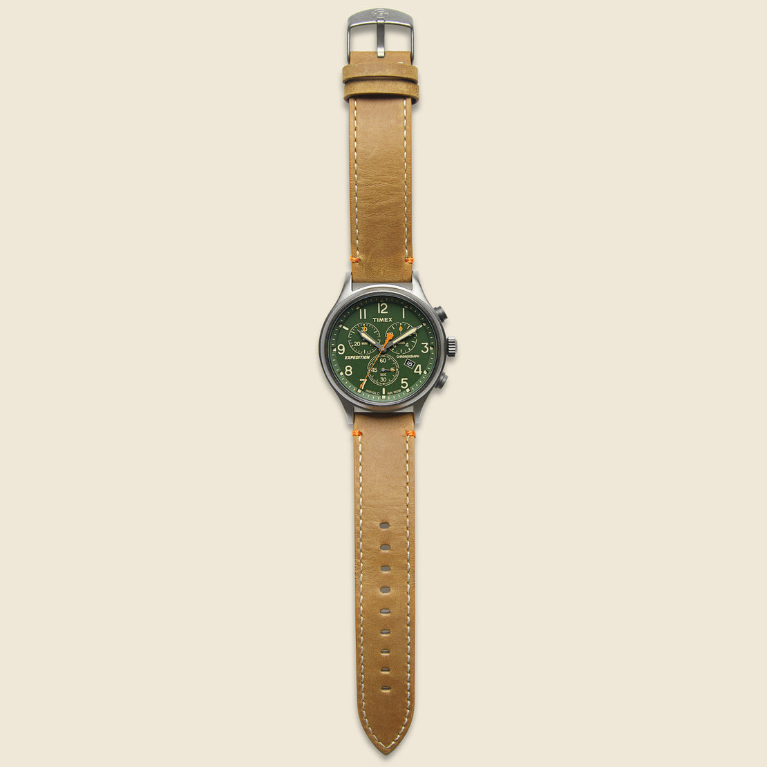 Expedition Scout Chronograph Watch 43mm - Green/Tan