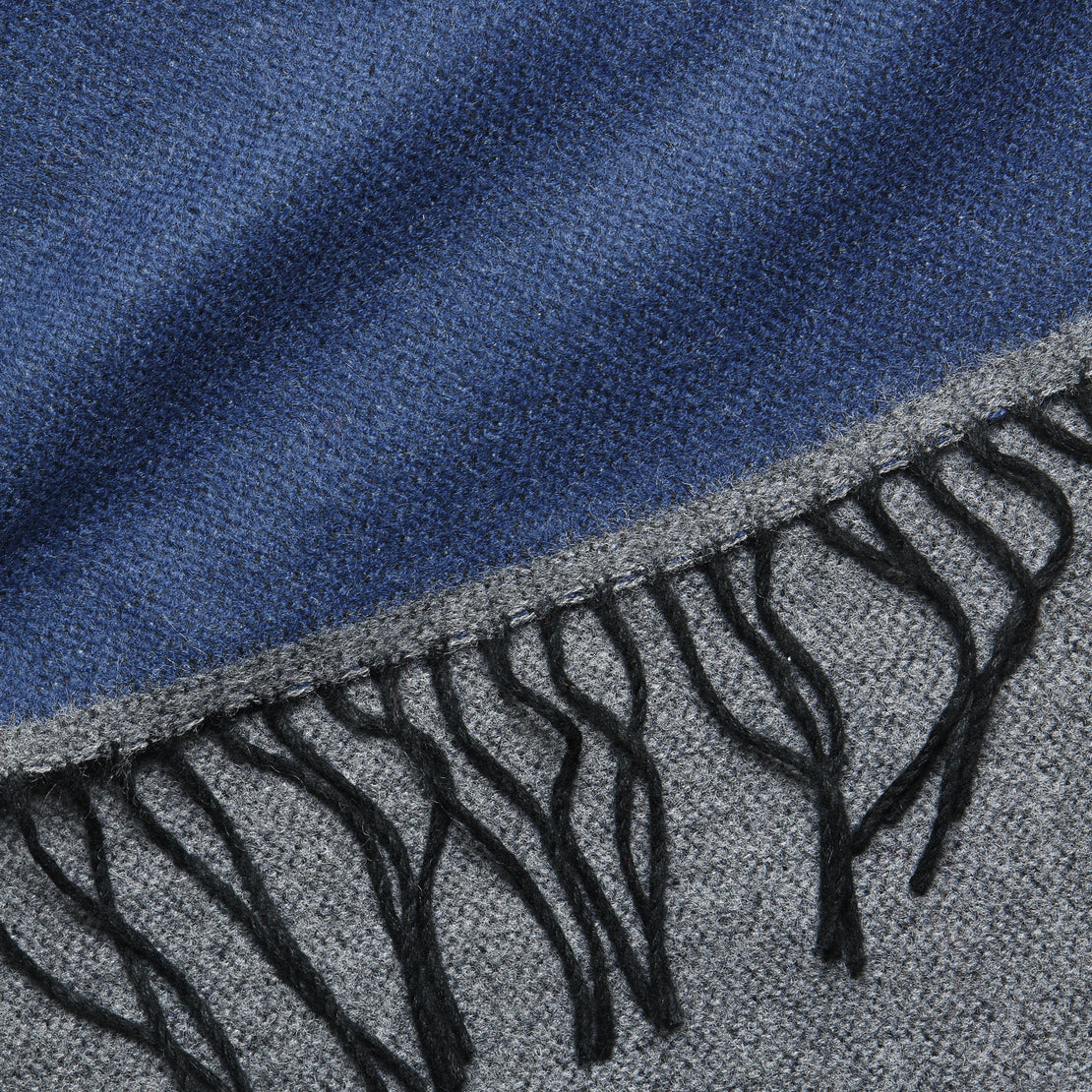 Double-Sided Scarf - Navy/Grey