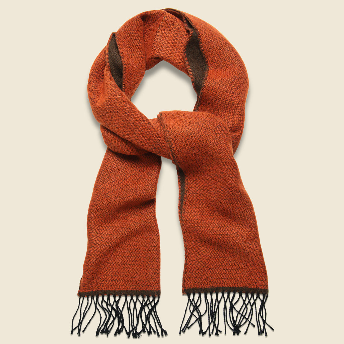 Universal Works Double-Sided Scarf - Orange/Brown