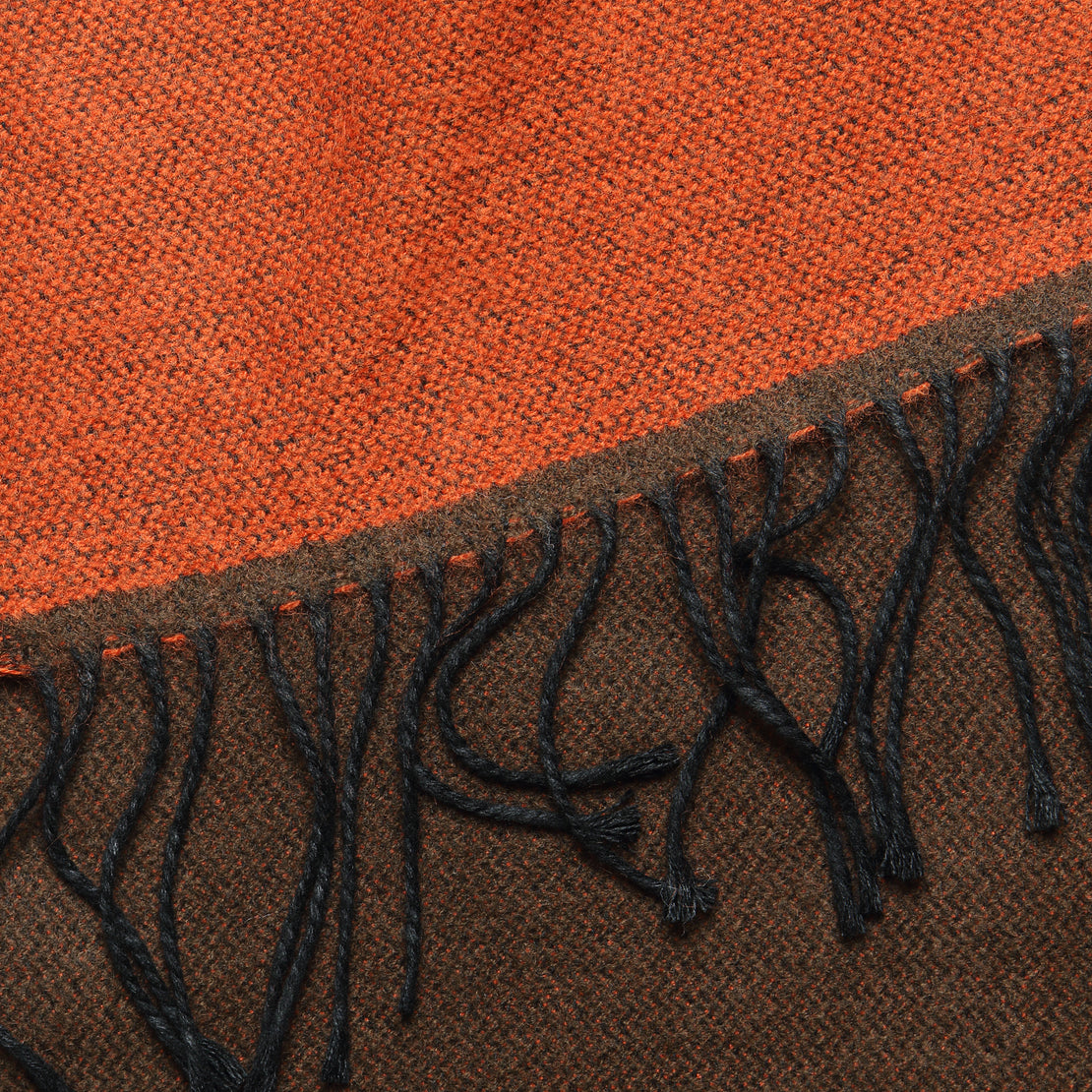 Double-Sided Scarf - Orange/Brown