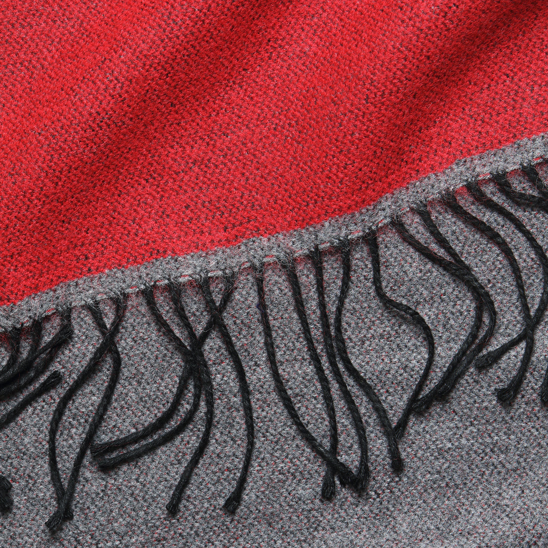 Double-Sided Scarf - Red/Grey