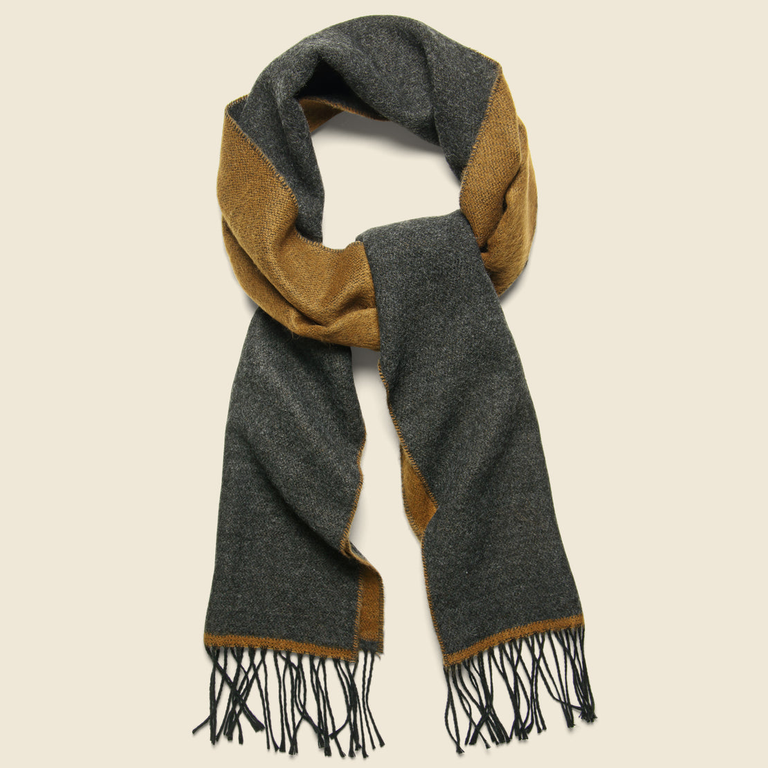 Universal Works Double-Sided Scarf - Cumin/Charcoal