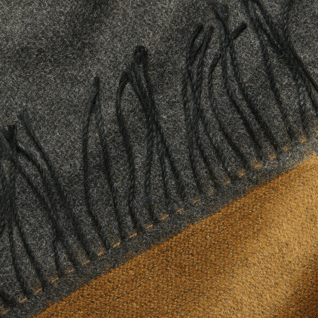 Double-Sided Scarf - Cumin/Charcoal