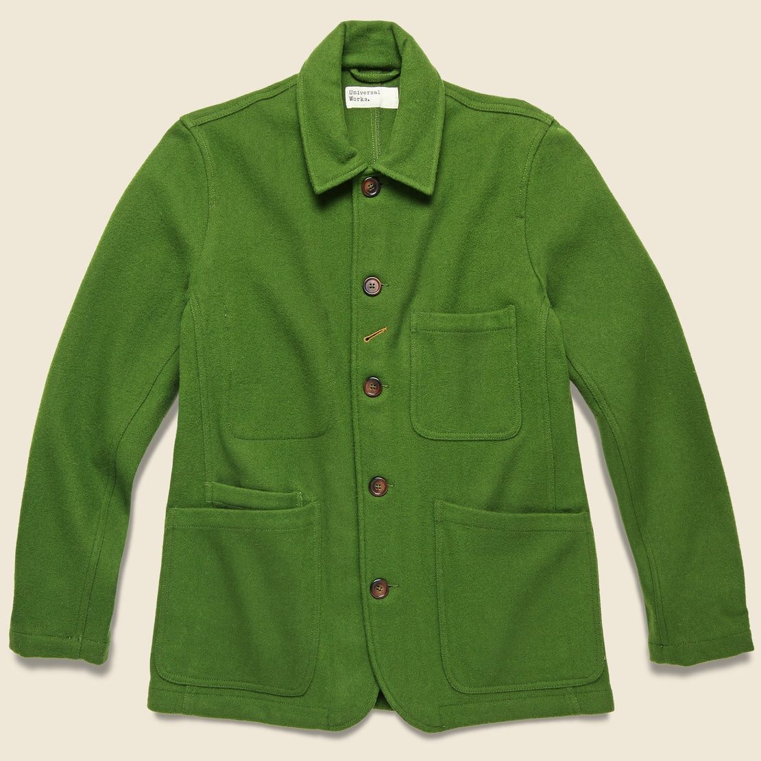 Universal Works Mowbray Long Bakers Jacket - Green