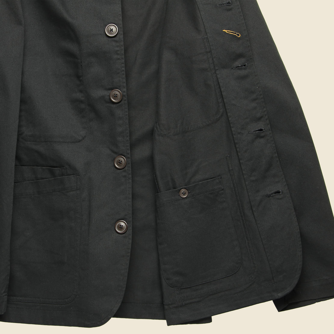Twill Bakers Jacket - Black