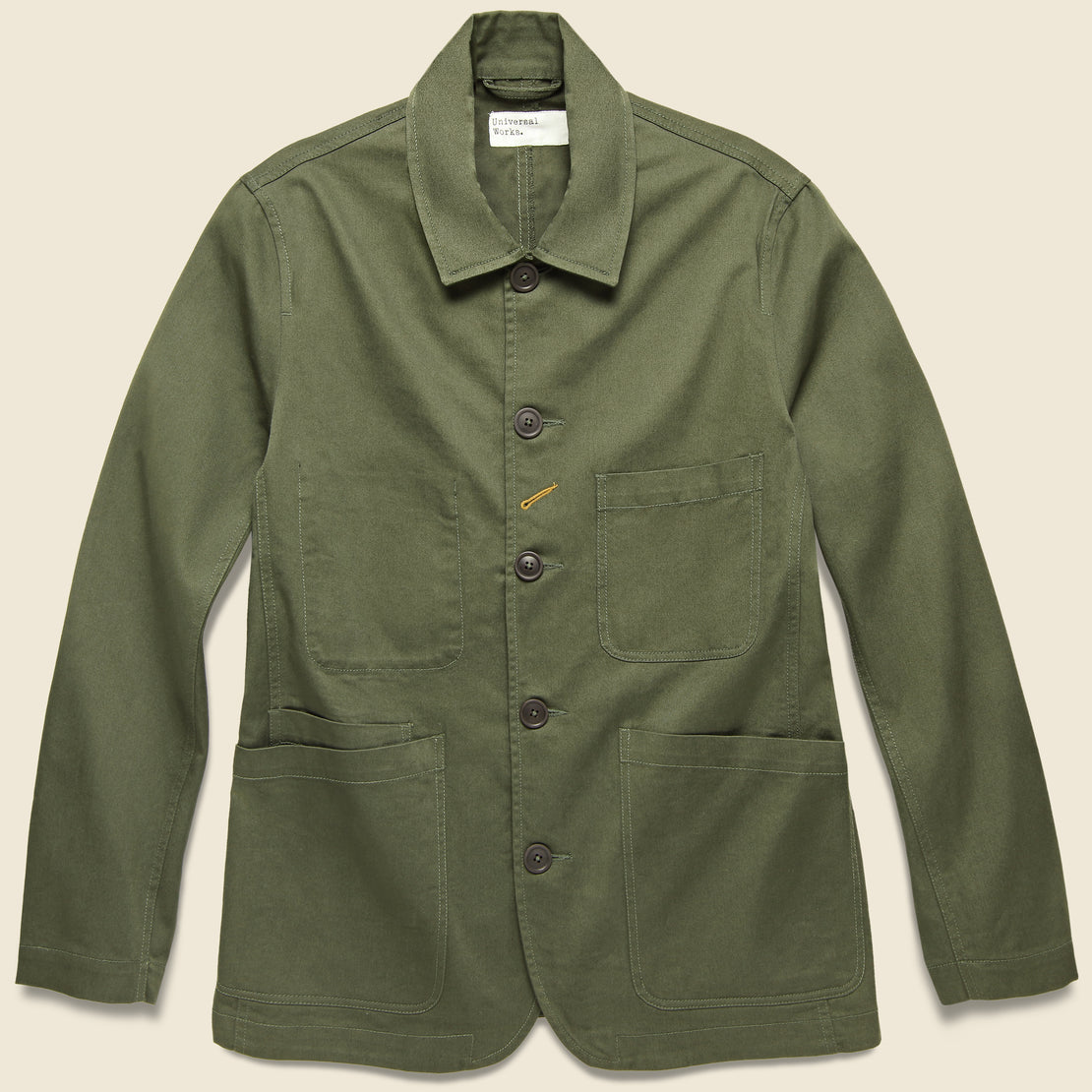 Universal Works Twill Bakers Jacket - Olive