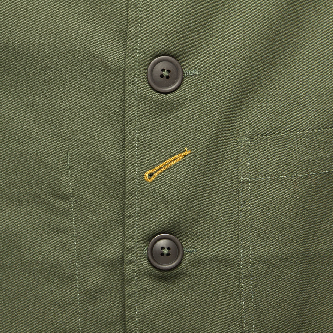 Twill Bakers Jacket - Olive
