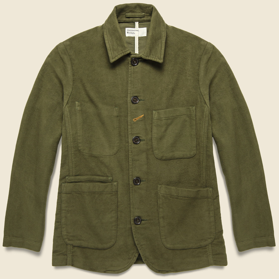 Universal Works Moleskin Bakers Jacket - Moss
