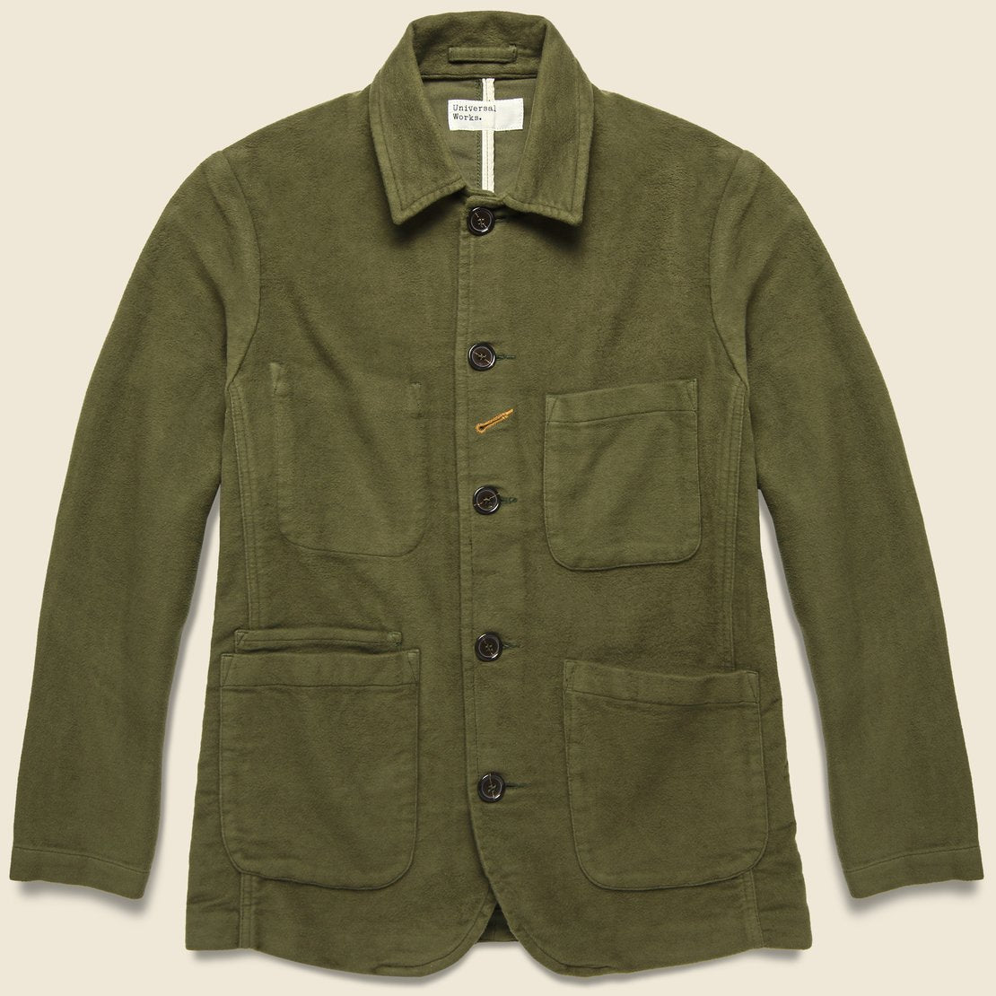 Universal Works Moleskin Bakers Jacket - Olive
