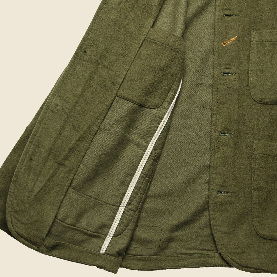 Moleskin Bakers Jacket - Olive