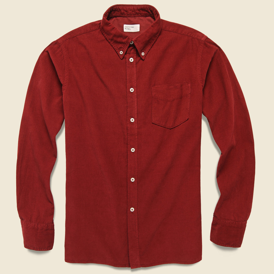 Universal Works Cord Everyday Shirt - Claret