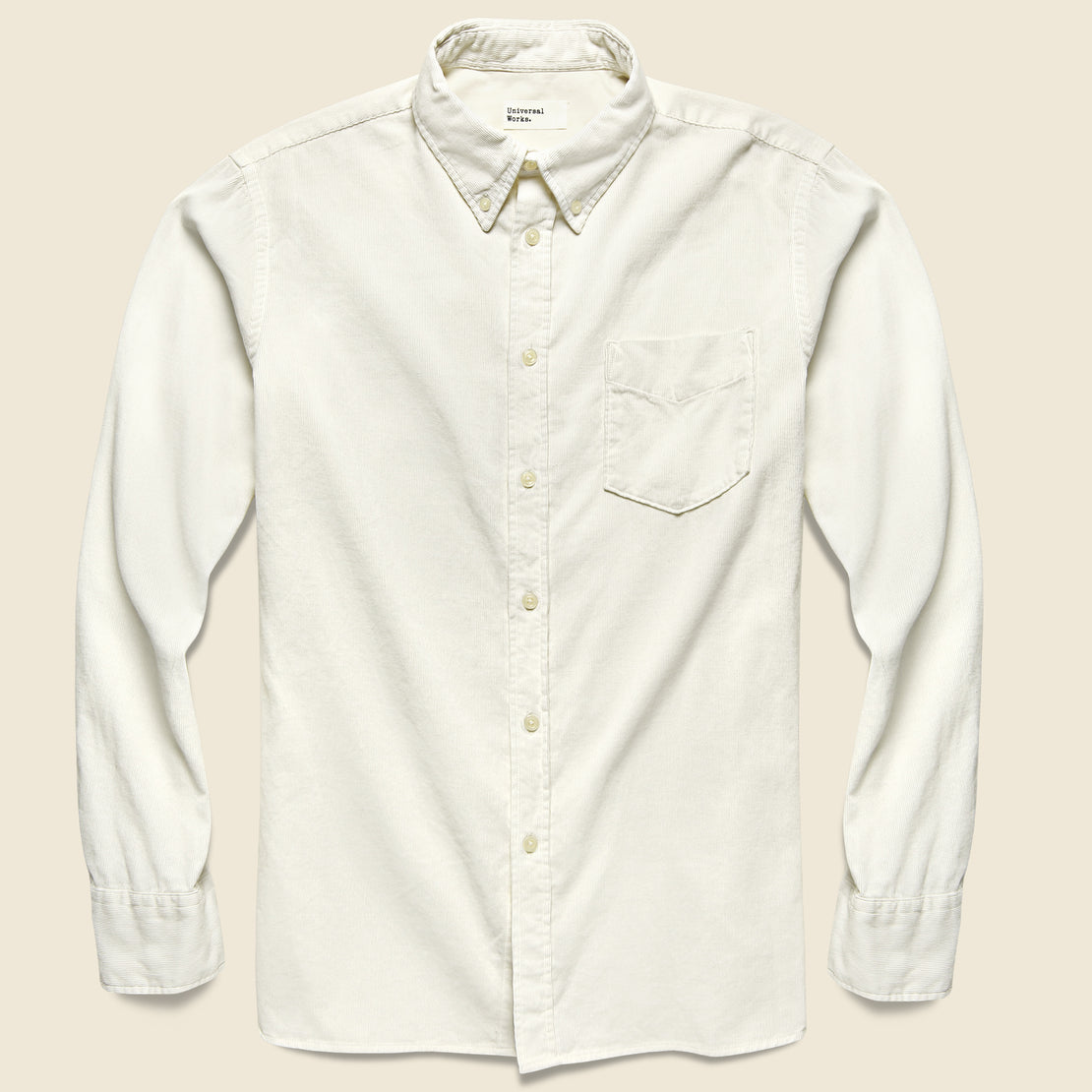 Universal Works Cord Everyday Shirt - Ecru
