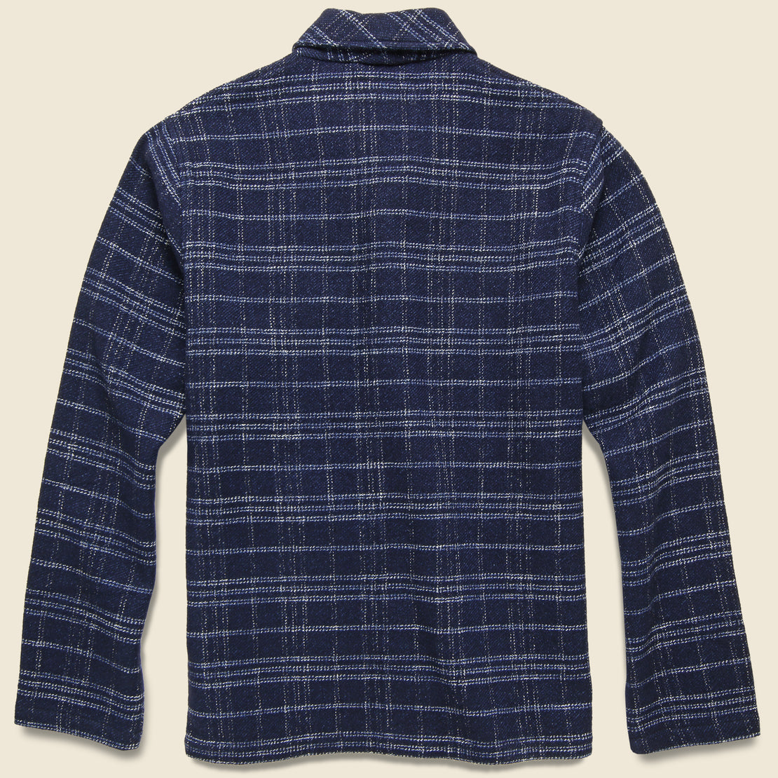 Check Prairie Jacket - Indigo