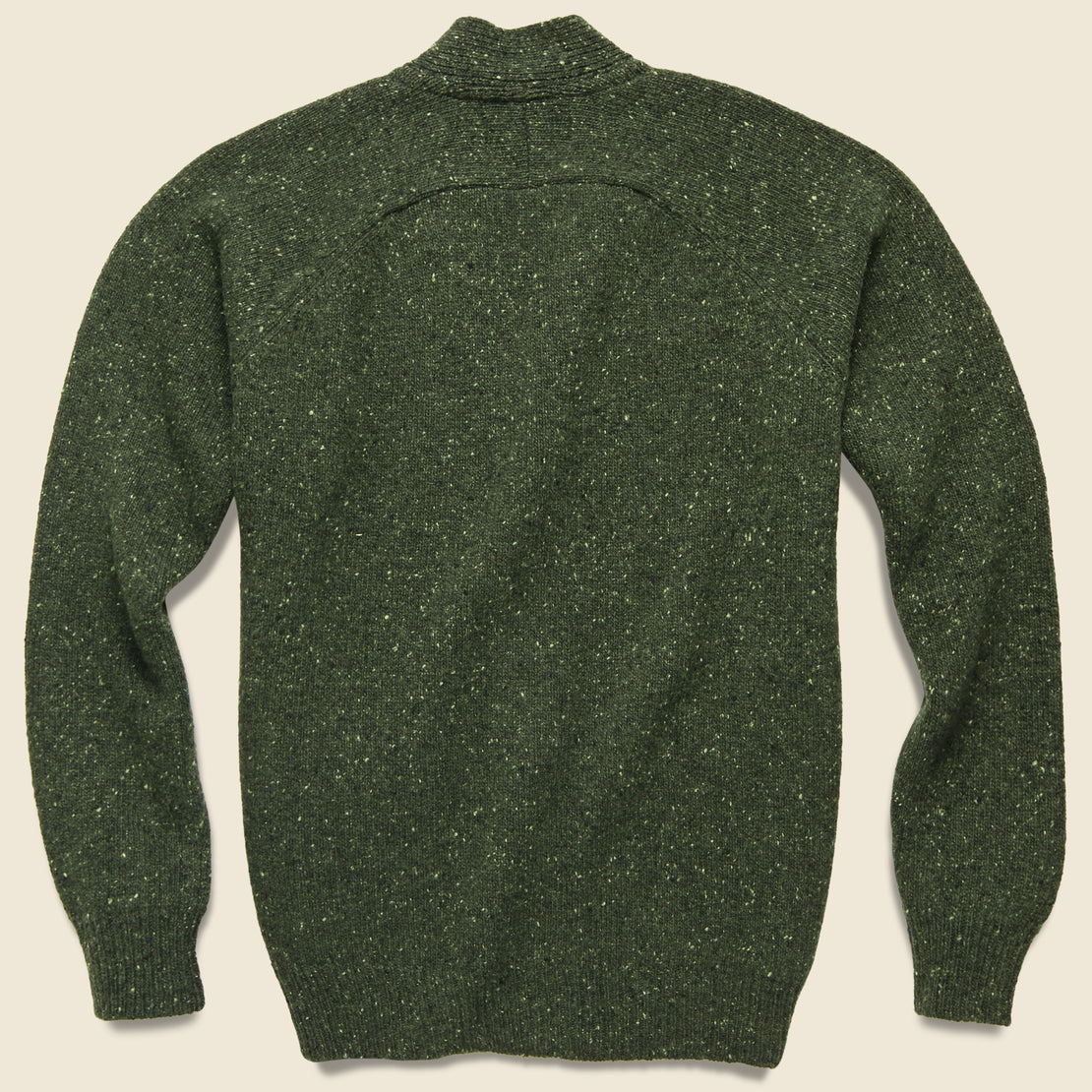 Vince Lambswool Fleck Cardigan - Olive
