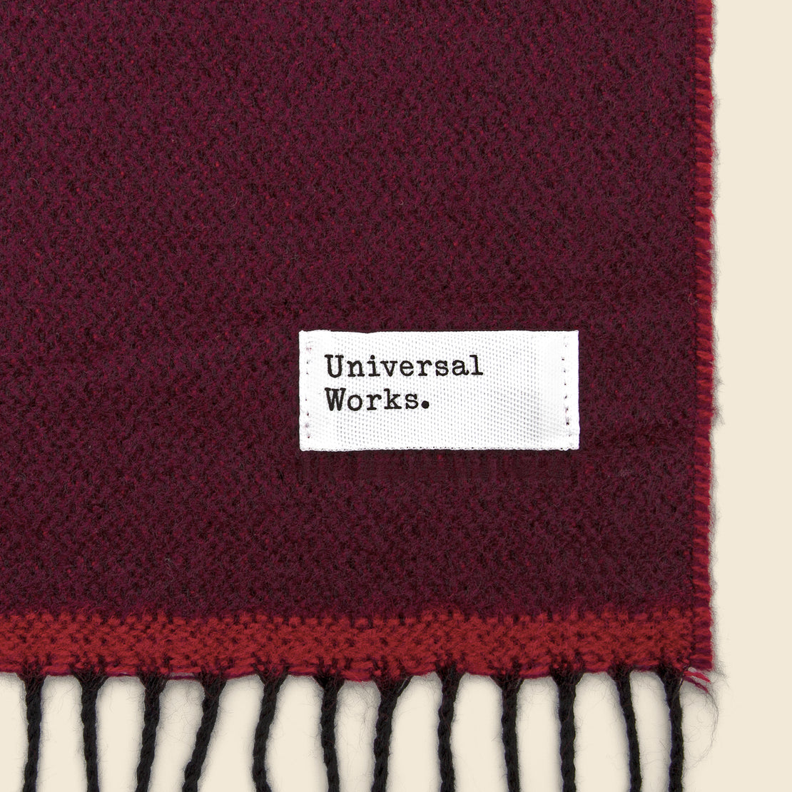Double-Sided Scarf - Burgundy/Red