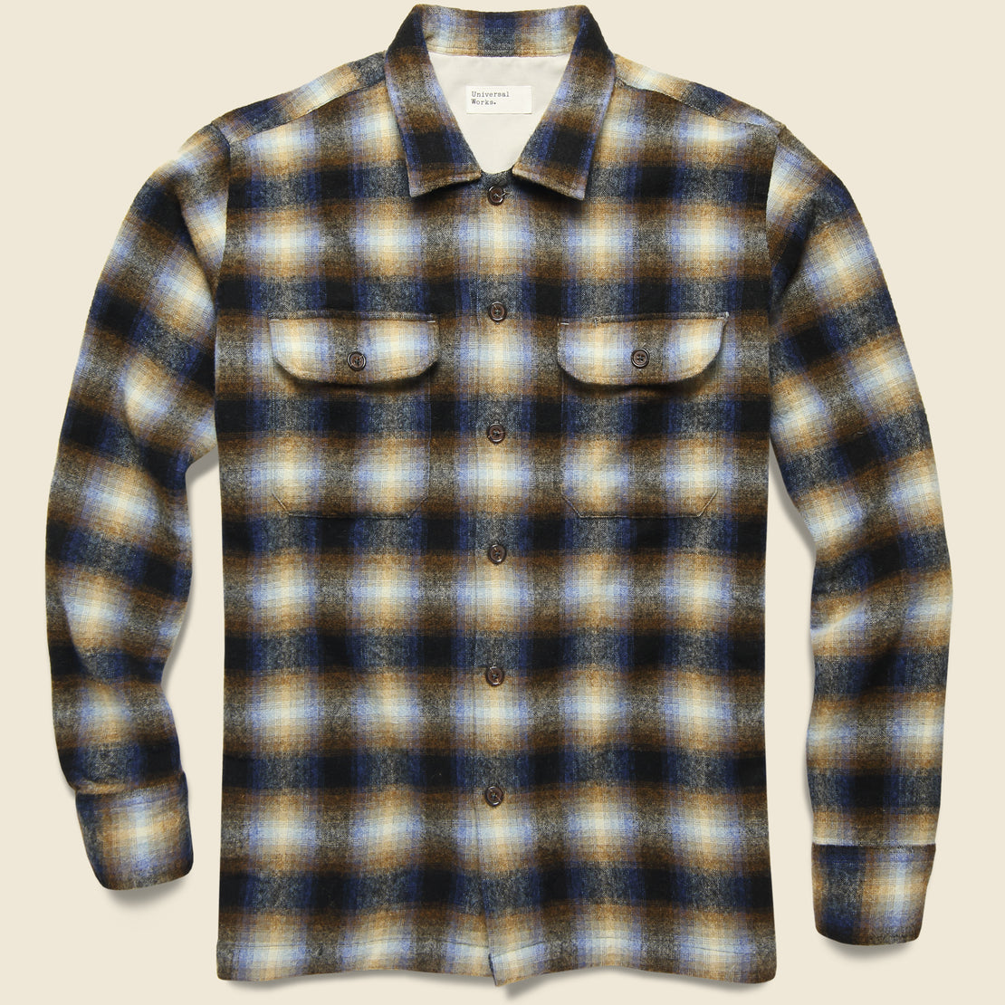 Universal Works Utility Shirt - Navy Check