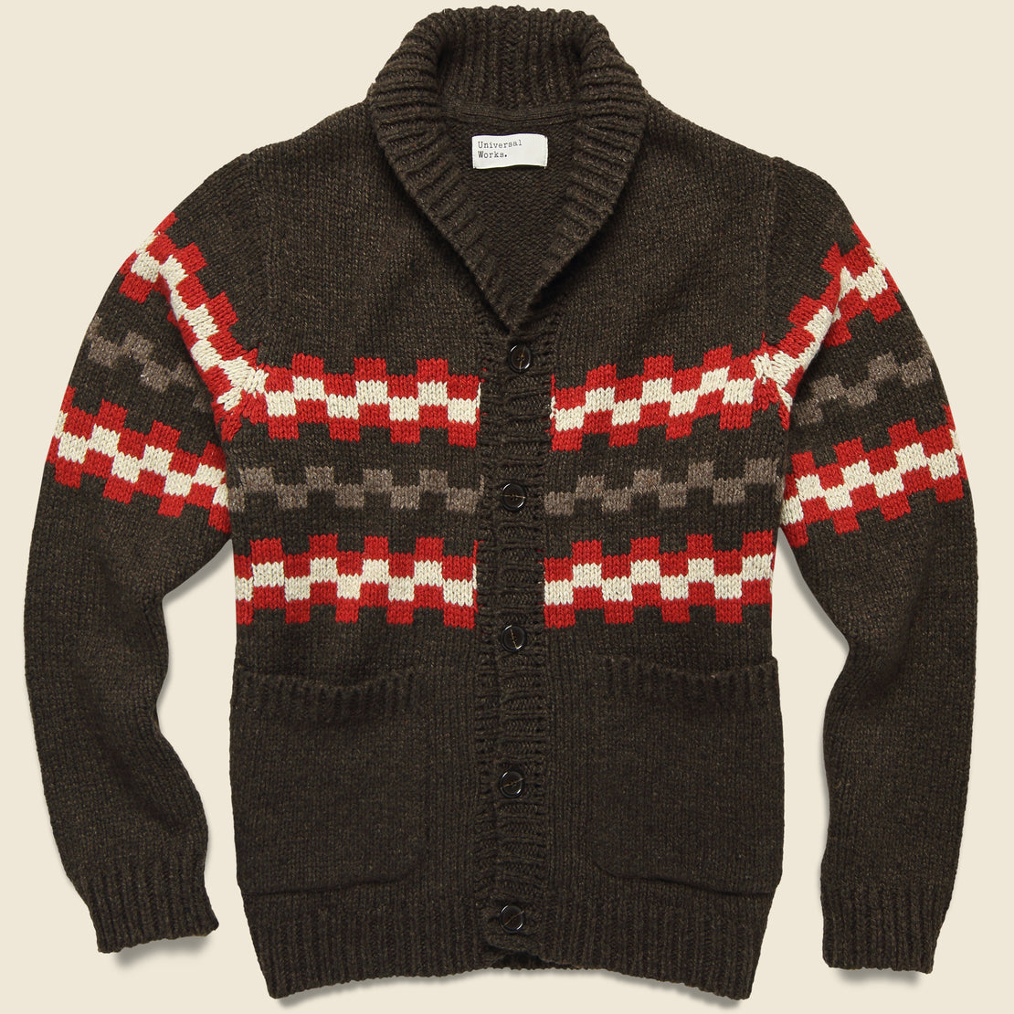 Universal Works New Mexico Wool Sweater - Chocolate