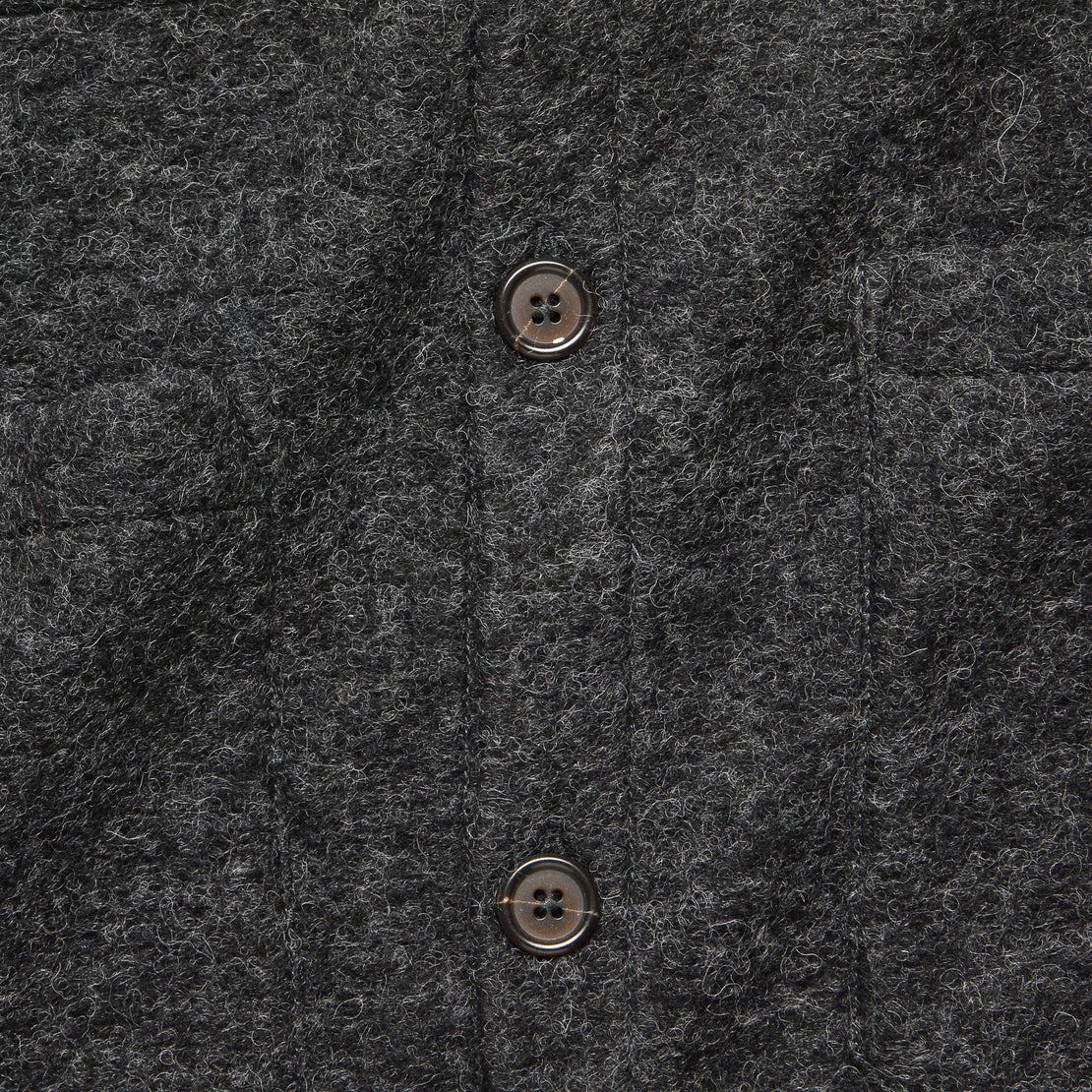 Wool Fleece Cardigan - Charcoal
