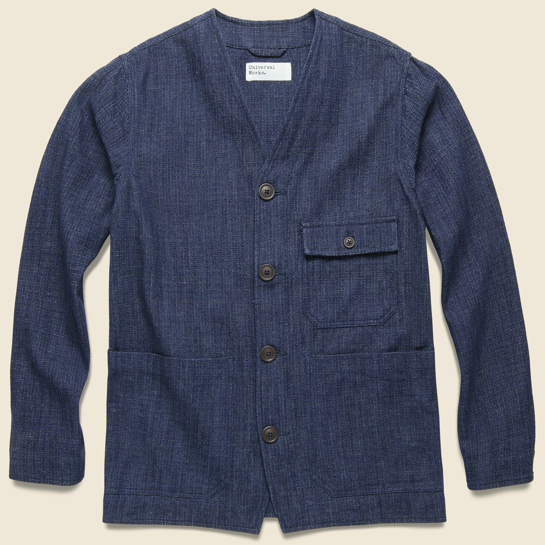 Universal Works Cabin Jacket  - Indigo Denim