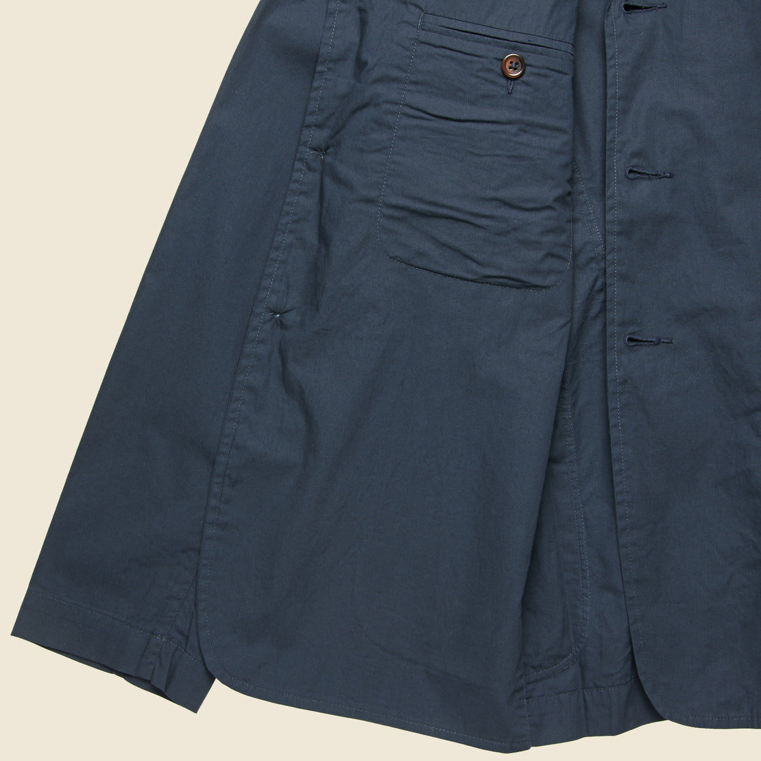Poplin London Jacket - Navy