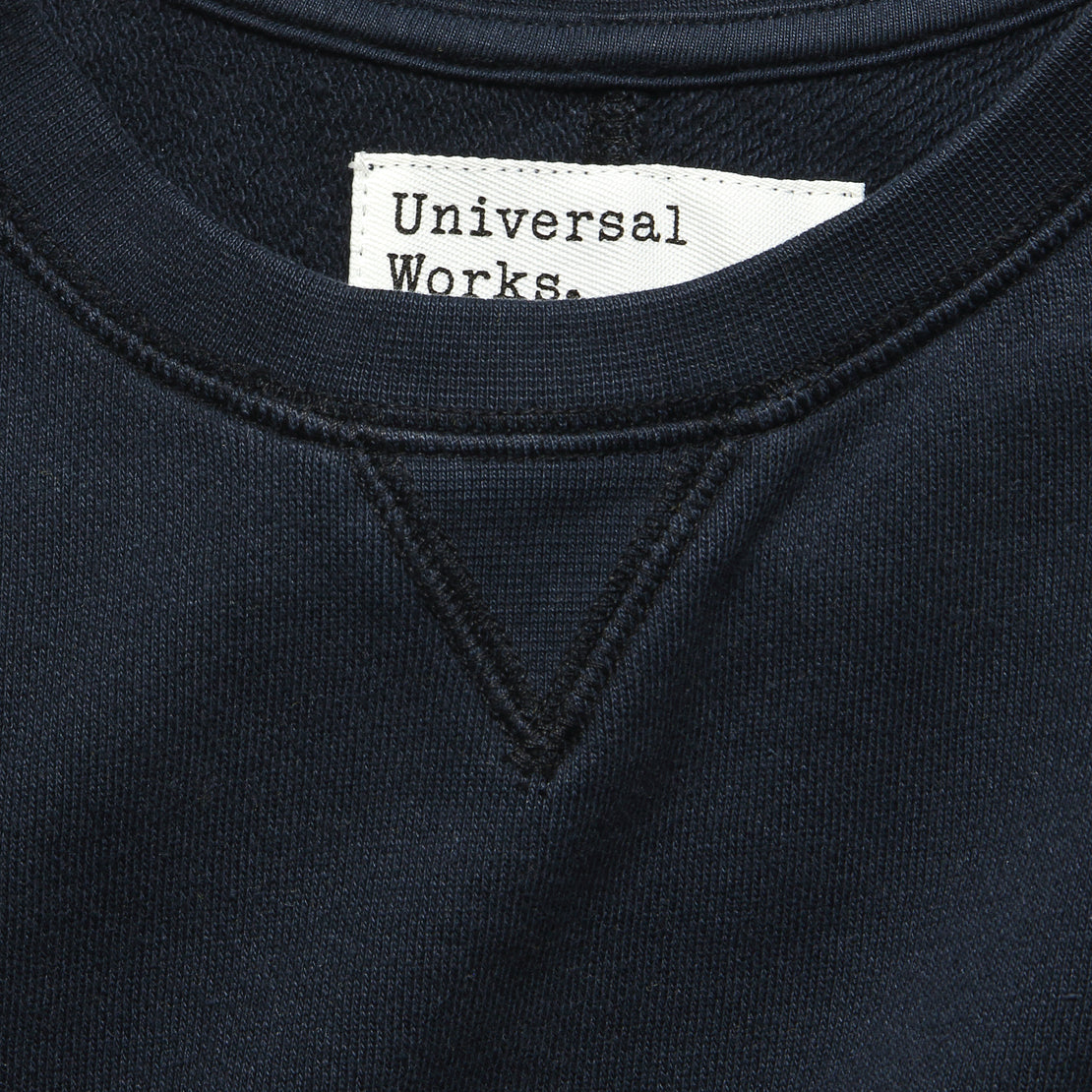 Crew Fleece Sweatshirt - Navy